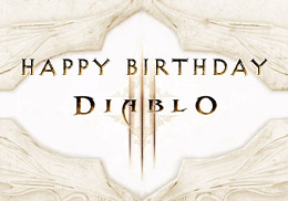 d3 birthday greeting white background