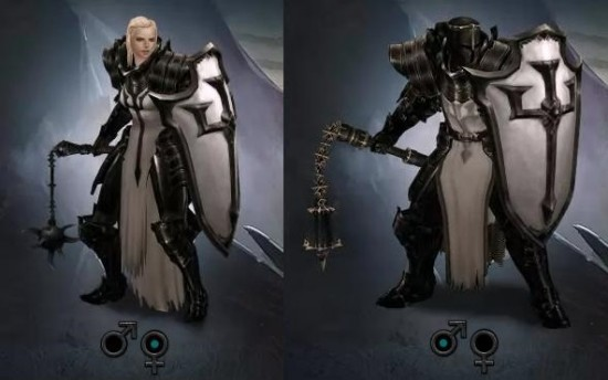 Male and Female Crusader